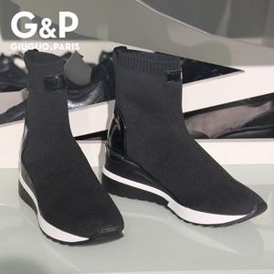 Image 2 - 新ファッションカジュアルシューズ女性快適な通気性メッシュソフト唯一の女性のプラットフォームスニーカー女性chaussureファムバスケットファム