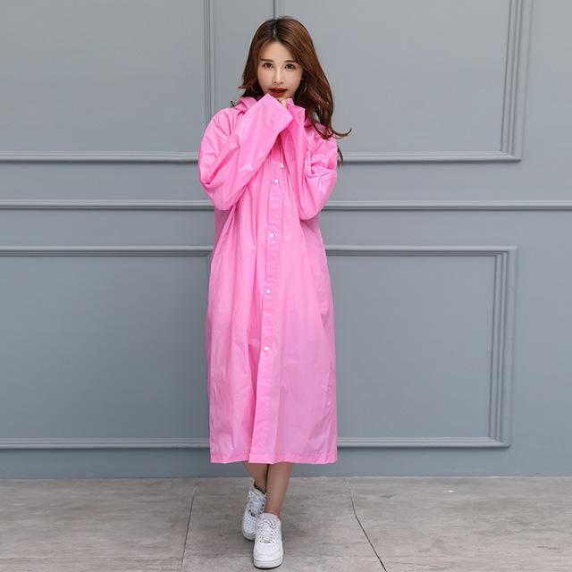 FGHGF Fashion Women Men Adults EVA Environment Transparent Raincoat With Hood For Rain Coat Outdoor Rainwear Waterproof Poncho