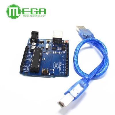 1pcs UNO R3 MEGA328P ATMEGA16U2 Compatible  1pcs USB Cable 30cm1pcs UNO R3 MEGA328P ATMEGA16U2 Compatible  1pcs USB Cable 30cm