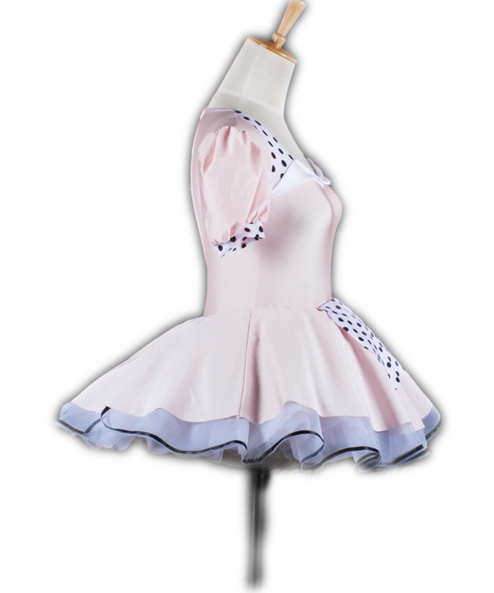New Children's Female Hubble-bubble Sleeve Maid Pink Princess Ballet Dance Skirt Activity Performance Giselle Ballet Costumes