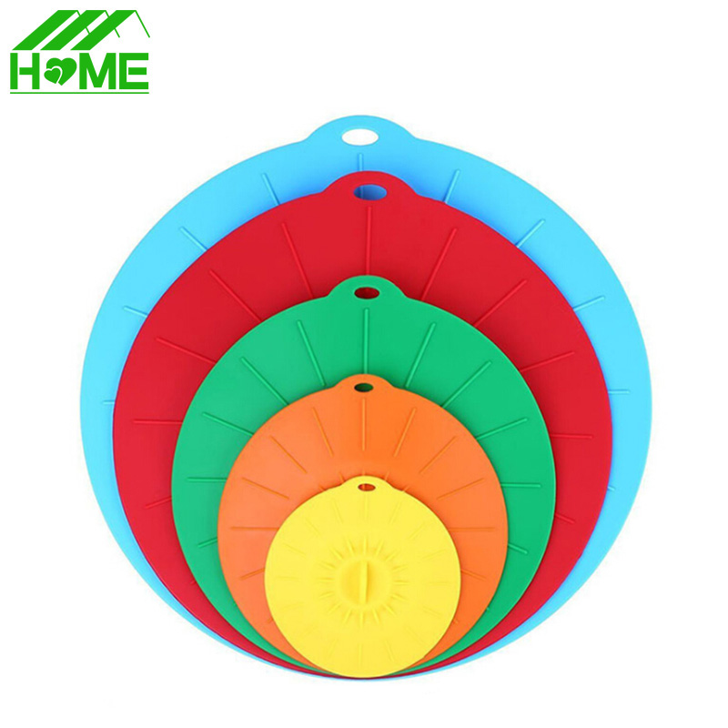 Silicone pan Pot Kitchen Spill Lid Pressure Stopper Cover