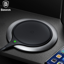 Baseus 10W Qi Wireless Charger For iPhone Xs Max Xr X 8 Metal Age Fast USB Wireless Charging Pad For Samsung Note 8 9 S9 S8 Plus