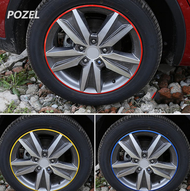 Wheel tire sticker on car rim tape car sticker for nissan x trail terrano qashqai