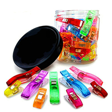 Bulk 100PCS/lot Wonder Clip Quilt Tools Patchwork Sewing Accessory Vibrant Mix Colors Clips Clamps Fabric Craft Sewing Holder