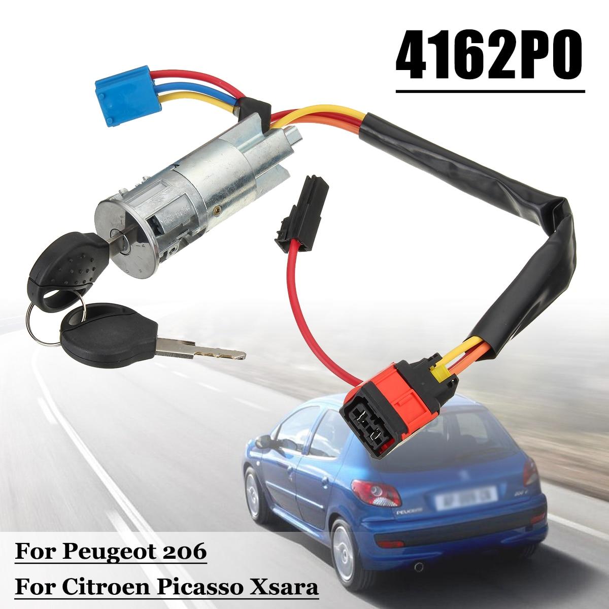 992712 Car Ignition Starter Switch Barrel Lock 2 Keys for Peugeot 206 for Citroen Picasso Xsara 4162P0