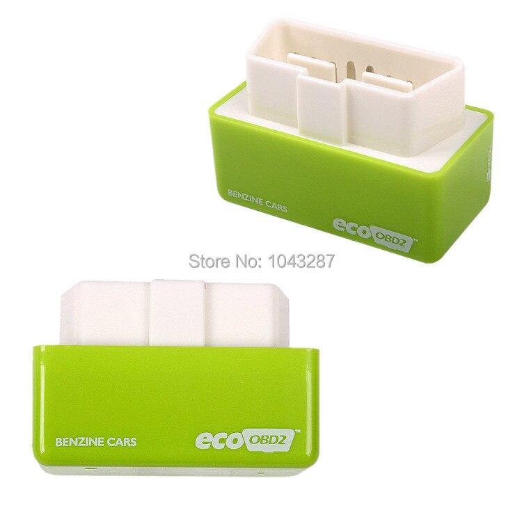 Цена за Ecoobd2 чип тюнинг плагин и привод OBD2 чип тюнинг экологически OBD2 зеленый цвет для бензином автомобили