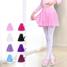 girls ballet skirt kids wrap up ballet dress skating skirt chiffon pull on dance skirt dance wear for kids