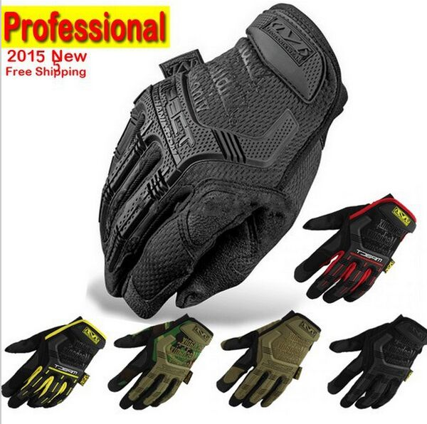 2019 New Mechanix Wear M-Pact Military Tactical Army Combat  Shooting Bicycle  Paintball Full Finger Gloves(China)