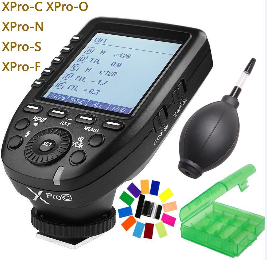 Godox Xpro Xpro-C/N/O/S/F/P 2.4G TTL Flash transmetteur sans fil déclencheur X système HSS 1/8000 s pour Canon Nikon Sony Olympus Fuji