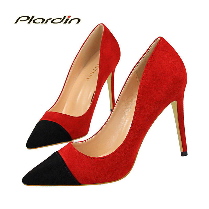 ФОТО plardin 2017 fashion women thin heels shoes party shoes for women High Heels sandal sexy Shoes mixed colors Pointed toe woman