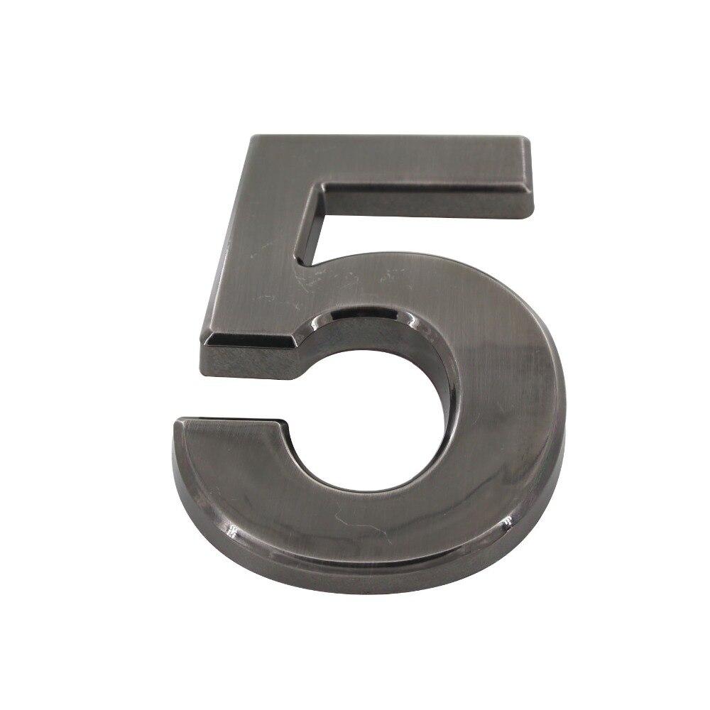 Number 5# Black Color Digital House Number ABS Plastic 100mm Height Gate Door Number Door Plate