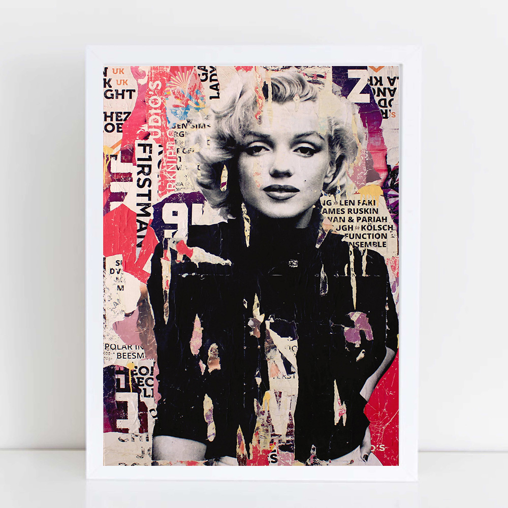 Marilyn Monroe Poster Nordic Marilyn Monroe Pop Art Canvas Painting Abstract Wall Decor