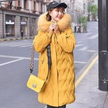 PinkyIsBlack Autumn Winter Women Plus Size Fashion Cotton Down Jacket Hooded Long Parkas Warm Jackets Female Coat Clothes