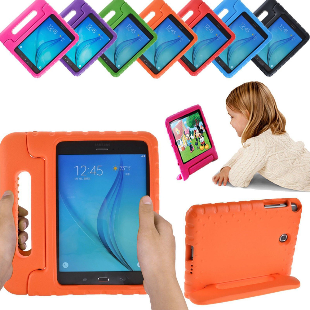 Silicon Stand Case For Samsung Galaxy Tab A 8.0 2017 T380 T385 Protective Case Kids Safe Armor Cover For SM-T380 SM-T385