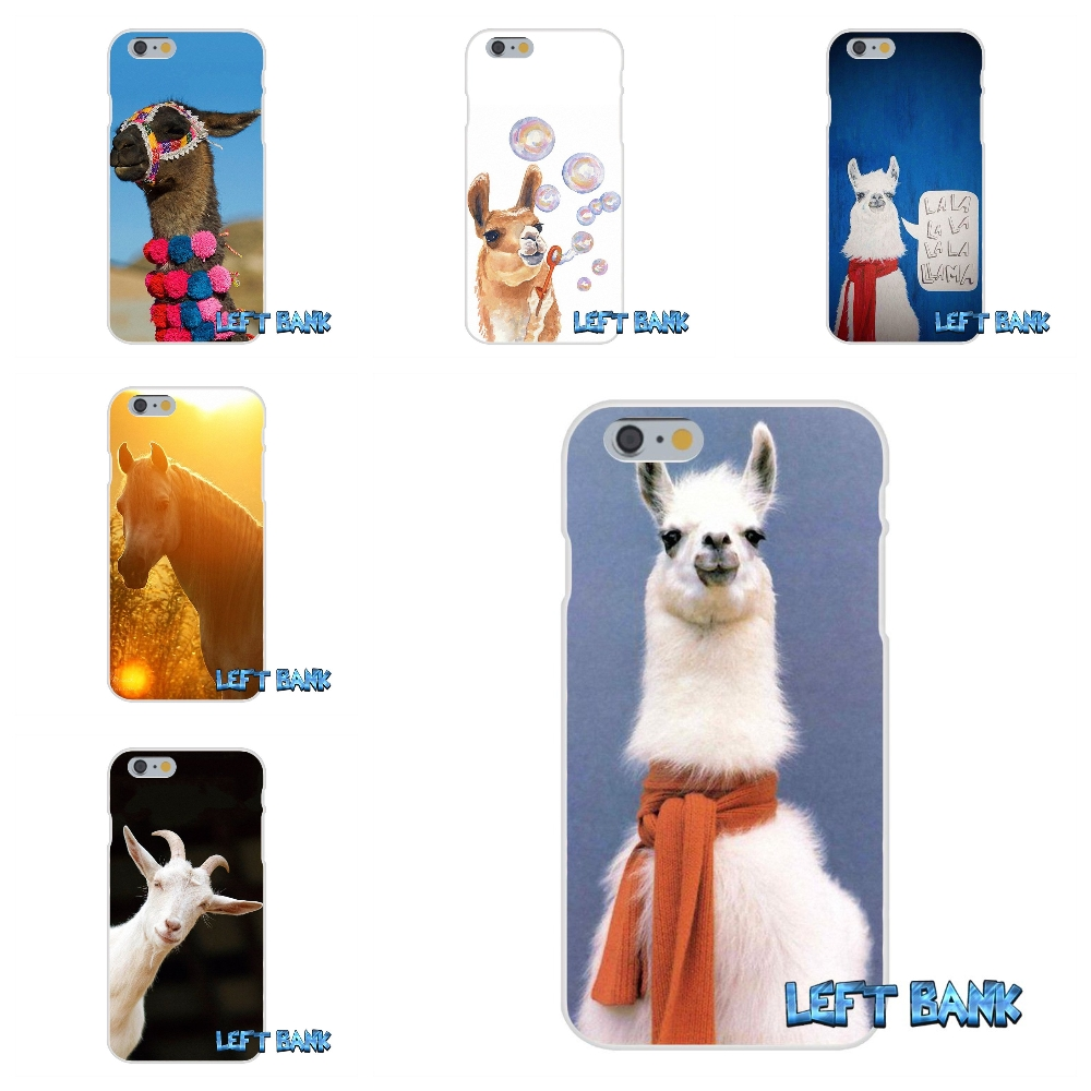 For iPhone 4 4S 5 5S 5C SE 6 6S 7 Plus Keep Calm and Llama On Soft Silicone TPU Transparent Cover Case