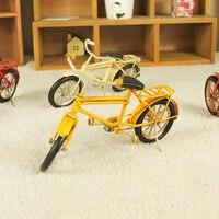 Vintage Home Decoration Iron Metal Craft Mini Bicycle Model Hand Made Birthday Gift Colors Random Free