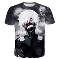 Angry White Hair Kaneki 3D t shirt Galaxy Tees Men Women Harajuku Tee Shirt Classic Tokyo Ghoul Anime t shirts Hip Hop Tops