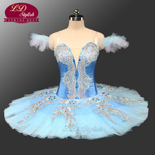Adult Classical Ballet Tutu Blue  Pancake Platter Tutu Costume Performance Competition Professional Tutus Ballerina Tutu LD0071 adult professional ballet tutu costume white coppelia competition performance pancake tutu classical ballet stage costume