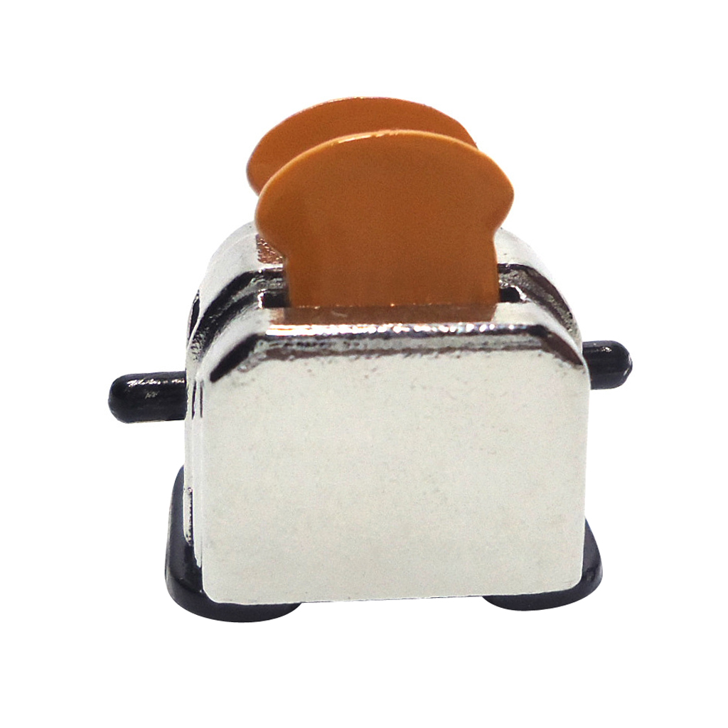 High Quality Wholesale 1:12 Doll House Miniature Bread Machine w/ Bread Slices for Dollhouse Decor Accessor Classic Kitchen Toys