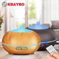 300ml Remote Control Wood Grain Essential Oil Diffuser Ultrasonic Aroma Cool Mist Humidifier For Office Bedroom
