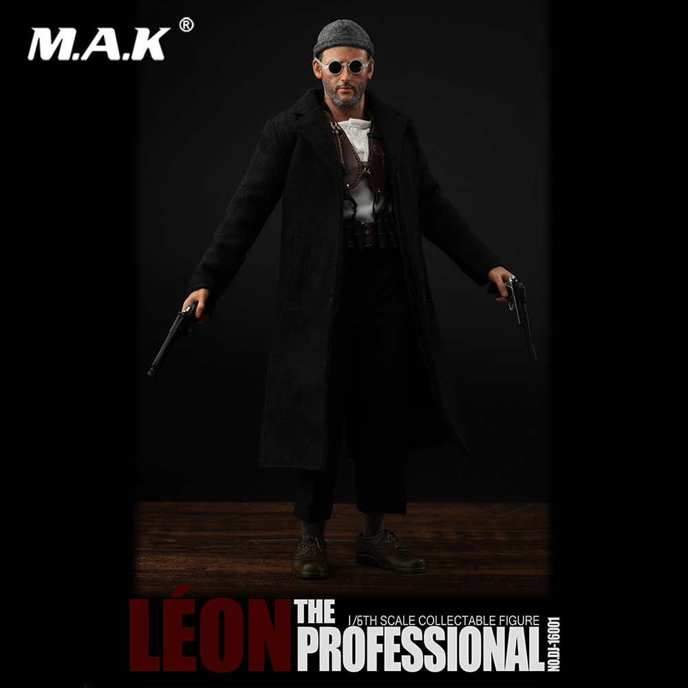 Collectible 1/6 Scale Full Set DJ-16001 The Leon Professional Action Figure Model with Double Heads for Fans GiftsCollectible 1/6 Scale Full Set DJ-16001 The Leon Professional Action Figure Model with Double Heads for Fans Gifts