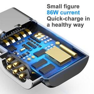 Image 2 - Baseus 86W manyetik USB C adaptörü için MacBook Pro 15 inç 6 Pins dirsek USB tip C şarj konektörü samsung için USB adaptörü