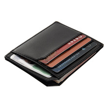New arrival High quality PU leather magic wallets Fashion men money clips card purse