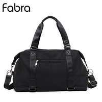 Fabra Waterproof Travel Bag Multi function Travel Duffle Bags for Men Women Collapsible Large Capacity Duffel Shoulder Bag Black