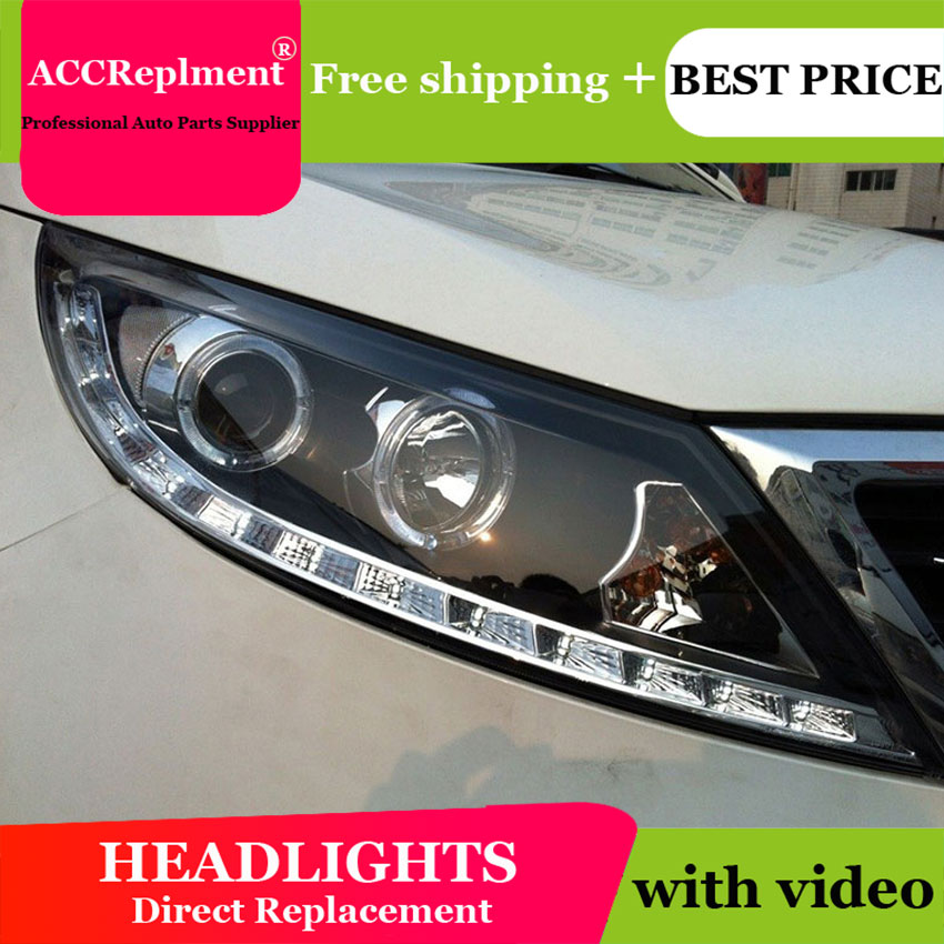 Car Styling For Kia Sorento Headlights 2011-2013 Sorento LED Headlight angel eye headlight BI XENON front accesspories low beam футболка классическая printio sphero s star wars bb 8 droid