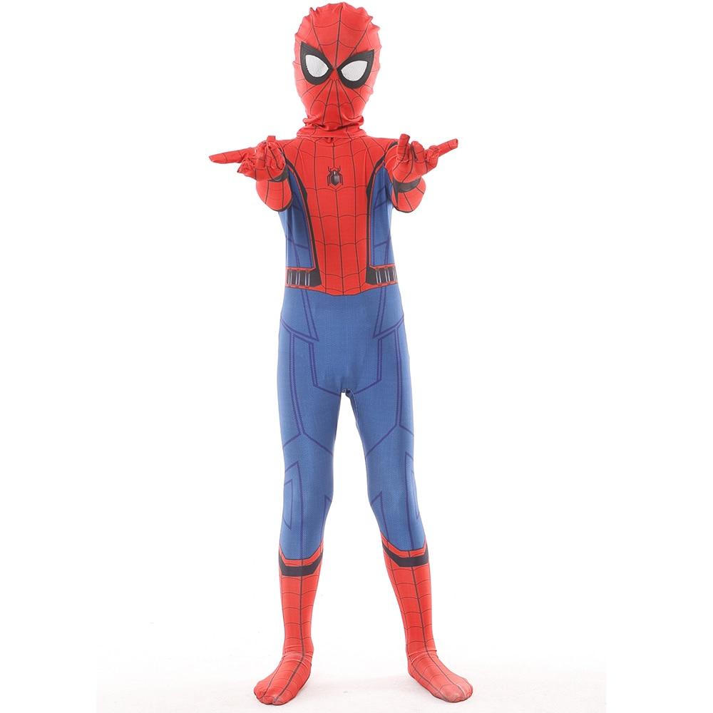 Kids Civil War Homecoming Spider-man Costumes Superhero Spider man Cosplay Bodysuit Halloween Party Costume Children Costumes