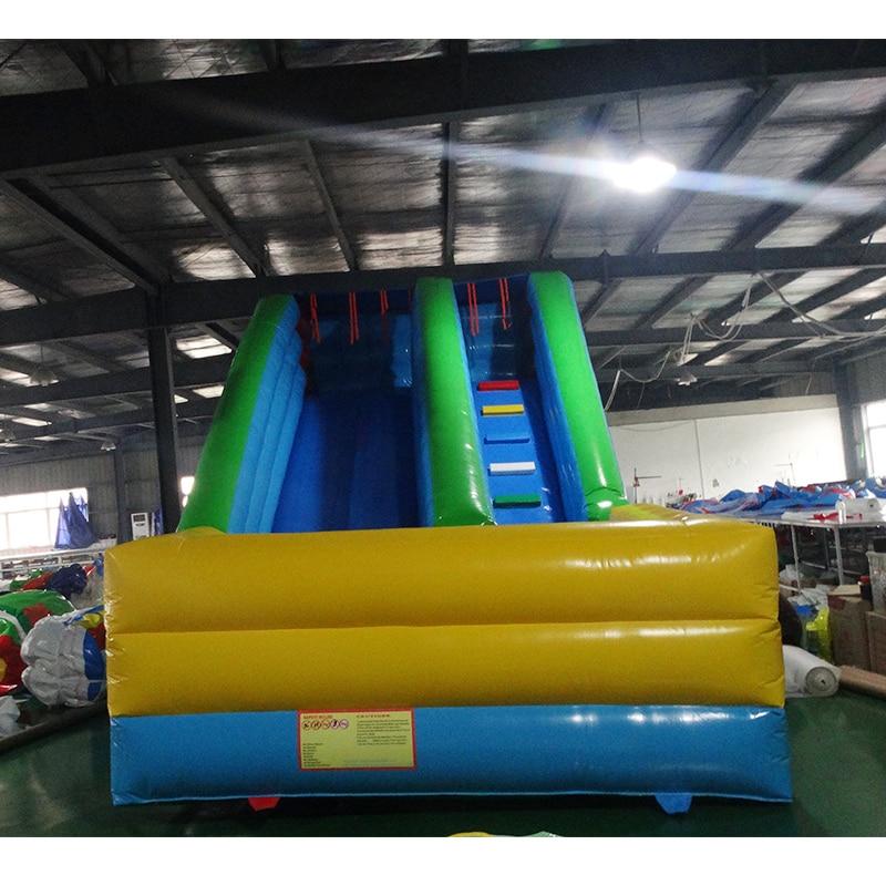Commerciale PVC gonflable diapositives sec diapositive videur avec toboggan gonflable pour enfants toboggan