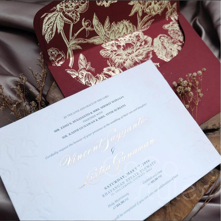 Us 720 71 Cocostyles Diy Luxury Chinese Style Letterpress Invitation Card With Gold Foiling Liner Envelope For Traditional Chinese Wedding In Cards