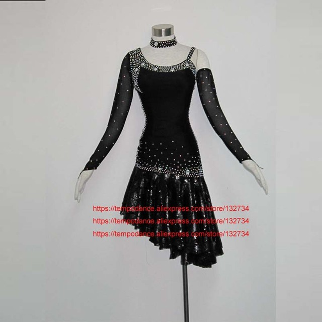 Mujeres Latina vestido de danza mujeres salón de baile traje de baile latino  vestido de Tango a62724b57d5