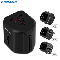 Momax 2.5A USB Charger Universal 2-Port Travel Charge Adapter EU/US/UK/AU Plug Wall Charger for iPhone 6 S Samsung Huawei Xiaomi
