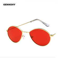 2018 Newest Fashion Small Oval Sunglasses Men Vintage Water
