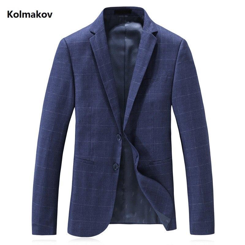 2019 Nouveau Hommes de Blazers Homme printemps hommes de Classique bleu 1 veste zippée D'affaires Treillis unique-rangée boucle Blazers pour messieurs
