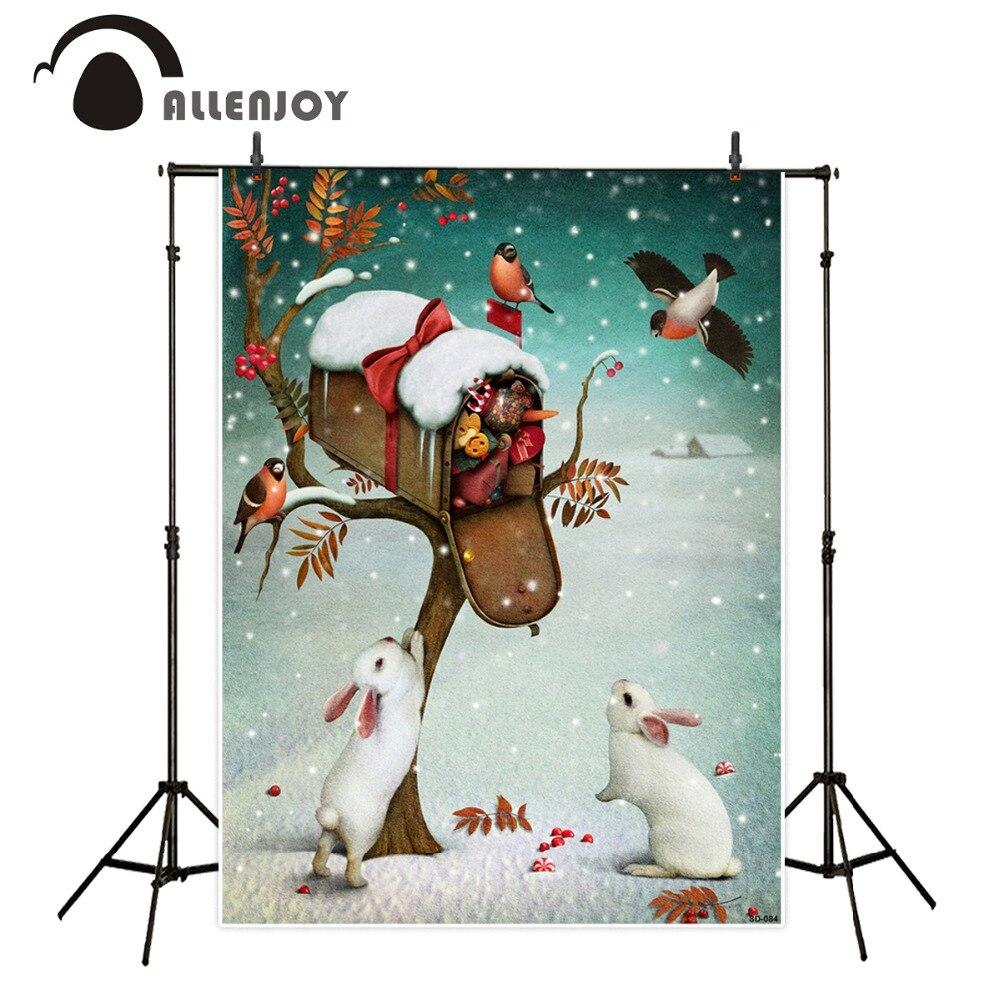10x20ft(3x6m) christmas backdrops The rabbit bird gift  photo shoot background ZJ shoot bird