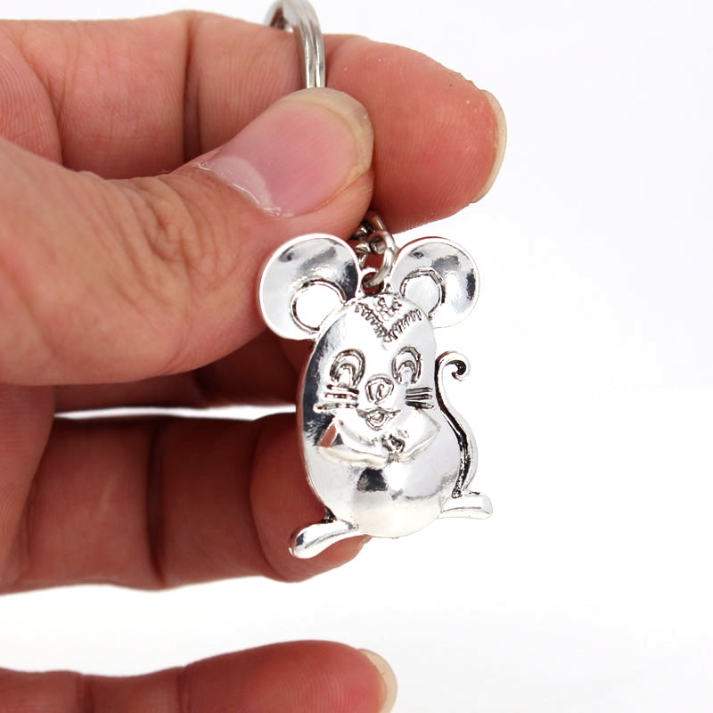 hzew new fat rat Key Chains cute mouse keychain gift in Key Chains from Jewelry Accessories