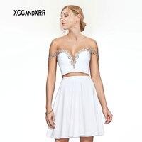 Сексуальная Милая Короткие Homecoming платья 2019 Мини шифон платье для выпускного с открытой спиной Свадебные платья девичьи платья для выпускно