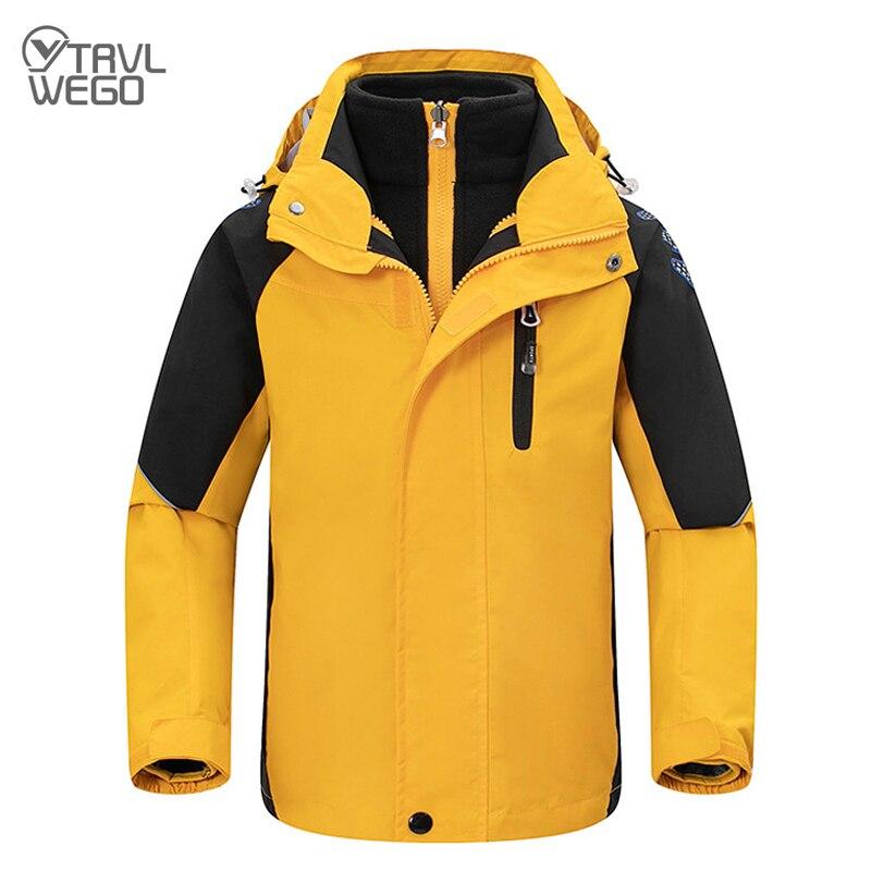 TRVLWEGO/лыжные куртки для мальчиков и девочек теплая водонепроницаемая детская Лыжная куртка детская зимняя съемная внутренняя часть, 3 в 1, од