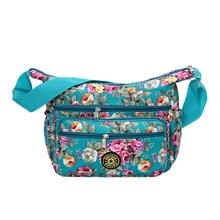 цена на Floral Shoulder Bag Printing Rose Messenger Bag Rural style 100% Cotton Canvas Crossbody Bag for Women Lightweight Cute Hobos