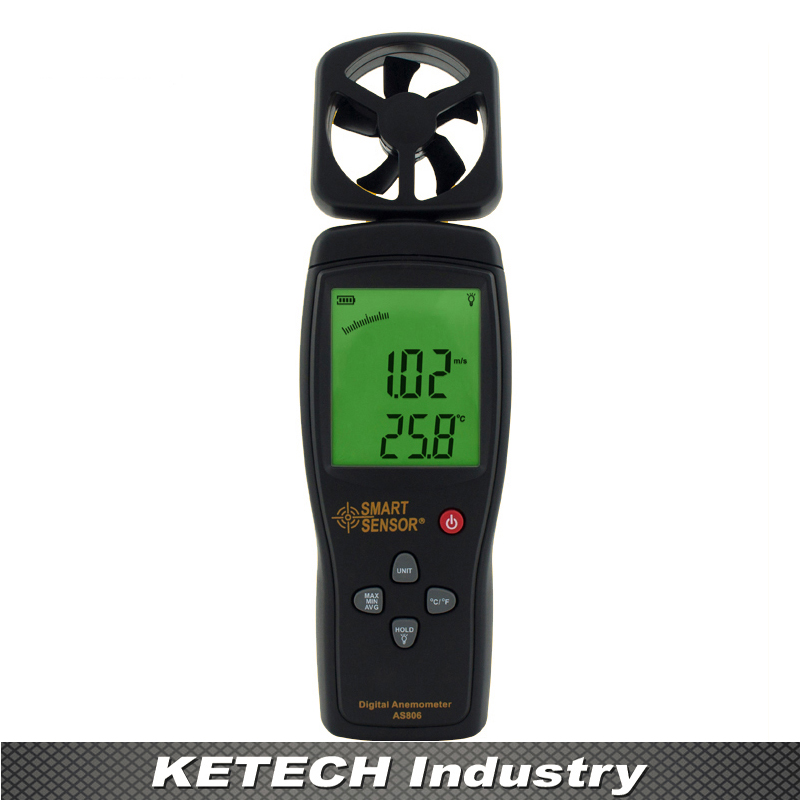 new AS806 Portable Digital Anemometer Wind Speed Meter Flow Meters 2014 new as836 digital anemometer wind speed meter wind direction