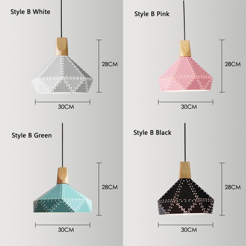 Nordic Loft Industrail Laser Cutting Home Pendant Lamps Lighting Modern Scandinavian Design Wood Hanging Light For Living Room3