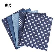 AHB 40*50CM Thick Denim Fabric Different Diameter Dots Printed DIY Skirt Sewing Quilt Patchwork Handmade Crafts Supplier