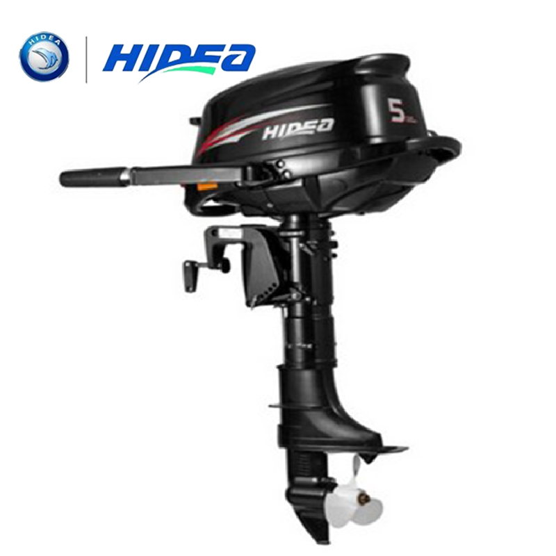HIDEA Wholesale and Retails Water Cooled 4-stroke 5 <font><b>HP</b></font> marine engine <font><b>outboard</b></font> <font><b>motor</b></font> for boats long shaft image