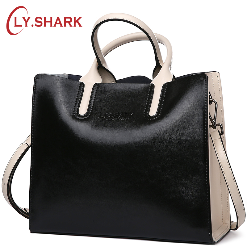 LY.SHARK Genuine Leather Women Handbag Tote Bag Shoulder Messenger Bags Luxury Handbags Women Bags Designer Purses And Handbags цена 2017