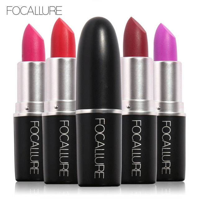 Focallure 18 colores de cosméticos de maquillaje de labios de larga duración a prueba de agua fácil de usar terciopelo mate lápiz labial maquiagem