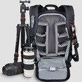 Sinpaid saco mochileiro grande capacidade multifuncional mochila câmera à prova d' água para nikon canon dslr preto amarelo & verde do exército
