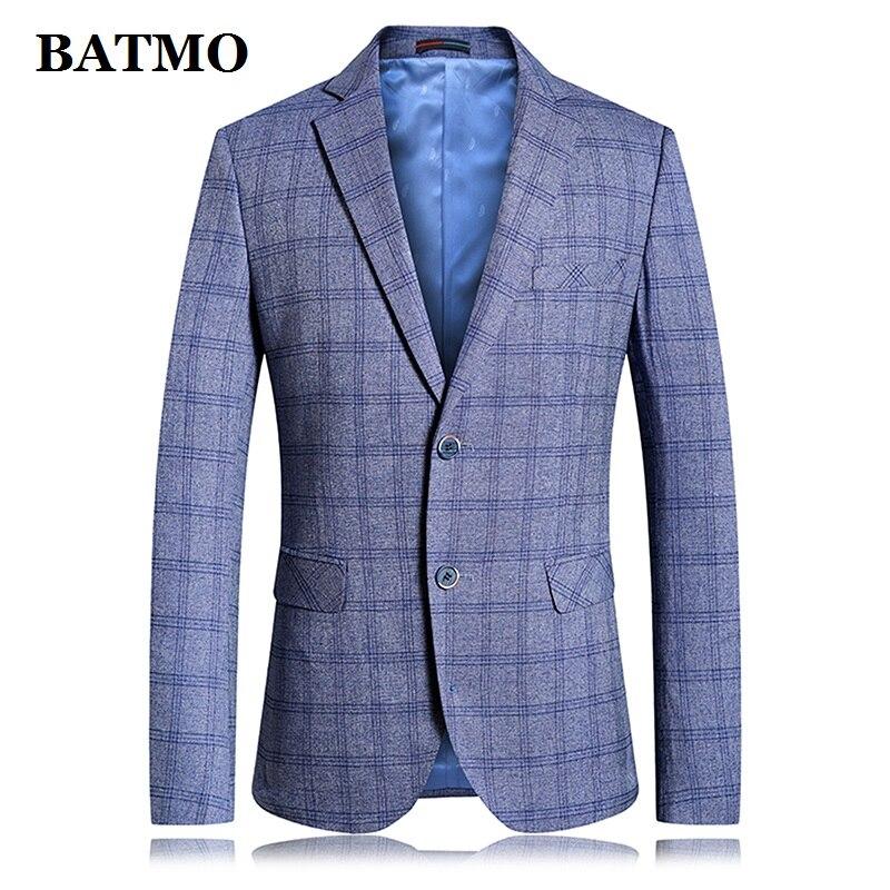 Erkek Kıyafeti'ten Blazerler'de BATMO 2019 yeni varış bahar yüksek kaliteli ekose casual blazers erkekler, erkek takım elbise erkekler, günlük ceketler erkekler, artı boyutu 6826'da  Grup 1