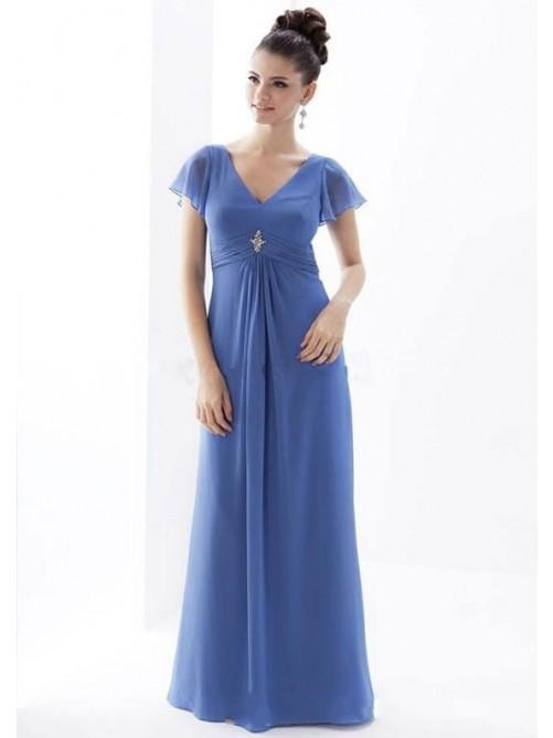 bea8178a51 Cheap Chiffon Simple Mother Of The Bride Dresses Plus Size China Ebay  Chinese Party Dress With Short Sleeves Royal Blue Vestidos-in Mother of the  Bride ...